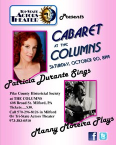 CABARET at the COLUMNS: Tri-State Actors Theater in Milford, PA--