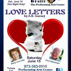 TRI-STATE presents BENEFIT PERFORMANCE: A.R. Gurney's LOVE LETTERS--Saturday, June 15
