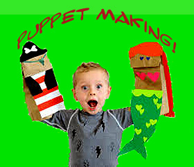 MAKE-A-PUPPET FUN DAY, Saturday, March 14
