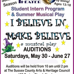AUDITIONS FOR TEENS-- SUMMER INTERN PROGRAM & PRODUCTION....