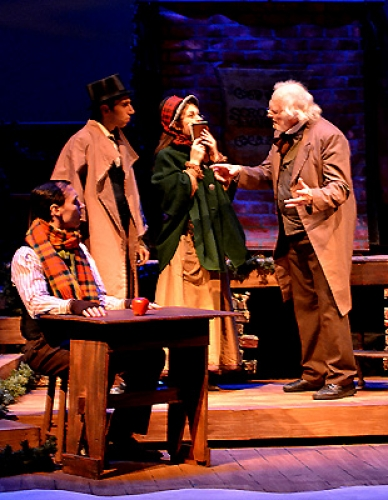 Scrooge drives the Gentleman & Lady of Charity away--