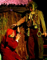 Jacob Marley warns Scrooge that he must change his ways.