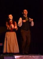 Lauren DeVore & Nick Wilder portray Scrooge's childhood friends.